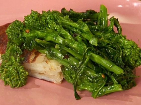 Sauteed Broccoli Rabe Recipe : Anne Burrell : Food Network Also Whole Food Recipe: http://www.wholefoodsmarket.com/recipe/saut%C3%A9ed-broccoli-rabe-garlic-and-olive-oil