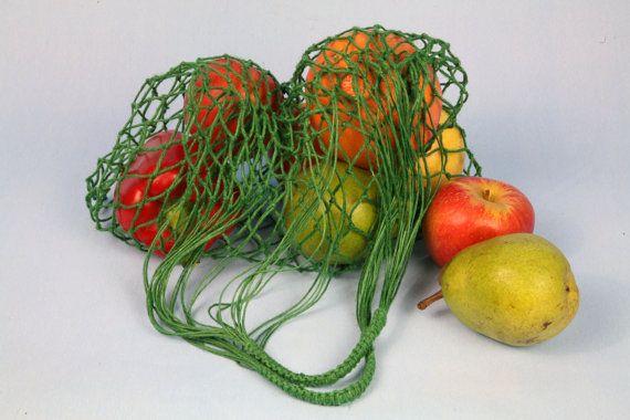 Eko shopping bag-Green Vintage bag Avoska String-bag Fashionable handy bag Retro