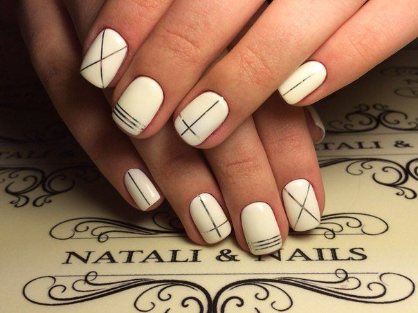 Elegant nails, Everyday nails, Exquisite nails, Foil nail art, Ideas of winter nails, Interesting nails, Manicure nail design, Nails with lines