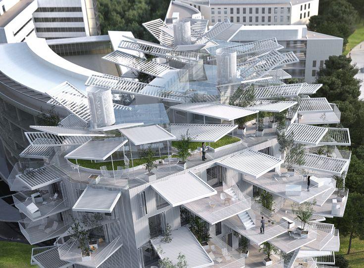 Richter 2 - Sou fujimoto architects / NL*A Paris / Oxo architects / RSI L'arbre blanc - Montpellier