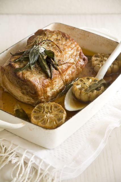 Sage and Garlic Roasted Pork Loin