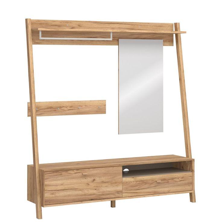 Deze Calvi garderobe van Germania is een spiegel, wandkapstok én opbergkast in één! Berg je schoenen op in het kastje en gebruik de lade voor kleine items zoals sleutels en opladers. Dankzij de grote spiegel ga jij altijd good looking de deur uit!