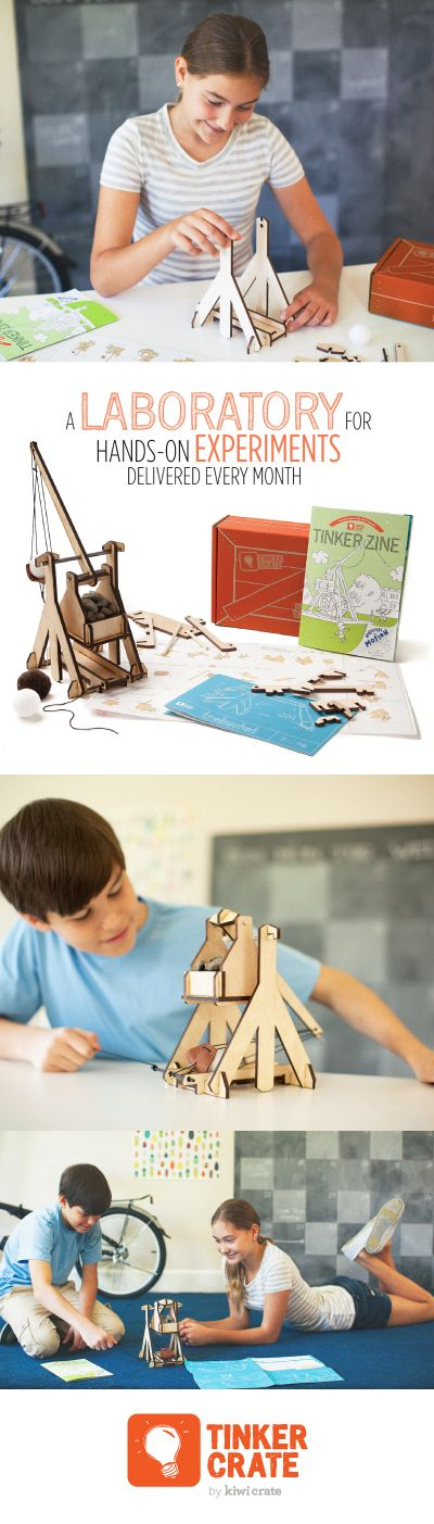 Join Tinker Crate and receive monthly hands-on kid's projects to explore science, tech, engineering & math! Save 30% on your 1st month with code PINTEREST30! Offer available through April 30, 2015.