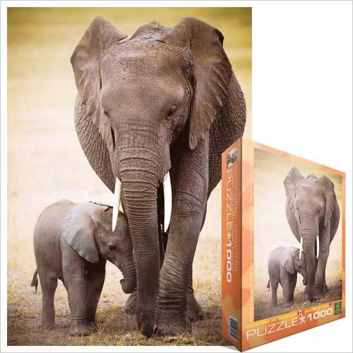 Elephant and Baby, Jigsaw Puzzle at Eurographics ELEPHANTS ARE MY FAVOURITE!