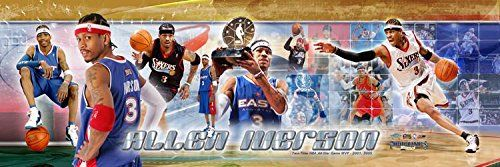 NBA Basketball Allen Iverson The Philadelphia 76ers Sixers  All Star Game MVP  12x36 Unframed Photoramic Photo 3006 -- You can get additional details at the image link.