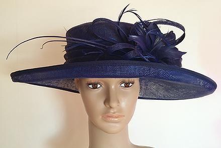 Ladies Day Occasion Hat Midnight Blue - Ladies Wedding Hats