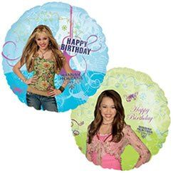 """18"""" Hannah Montana Happy Birthday Party Balloon (1 Balloon) by M&D. Save 10 Off!. $3.11. 2 sided design. You get one balloon. Both front and back shown in image above. 18"""" Hannah Montana Happy Birthday Party Balloon (1 Balloon)"""