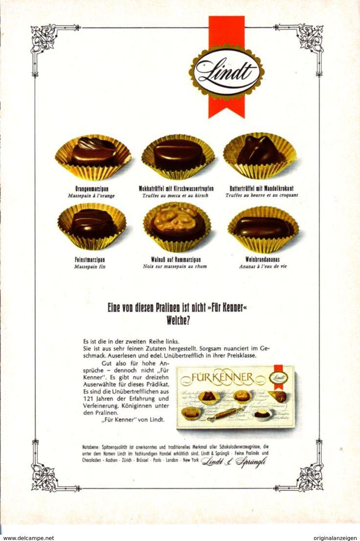 Werbung - Original-Werbung/ Anzeige 1967 - LINDT PRALINEN - ca. 160 X 240 mm