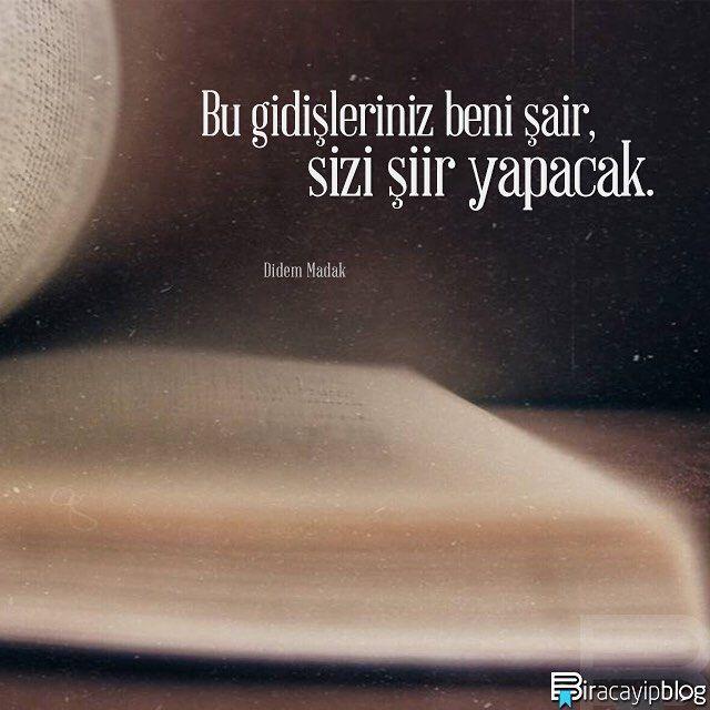 """#biracayipblog • """"Bu gidişleriniz beni şair, sizi şiir yapacak."""" - Didem Madak • [Fotoğraf: @gokyuzundekiroza] • ✍ [Okur Postası: posta@biracayipblog.com] •  www.biracayipblog.com"""