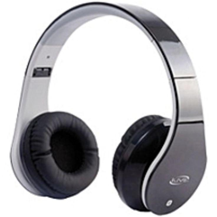iLive Bluetooth Stereo Headphones with Microphone - Stereo - Black - Mini-phone - Wired-Wireless - Bluetooth - 33 ft - 32 Ohm - Over-the-head - Binaural - Circumaural
