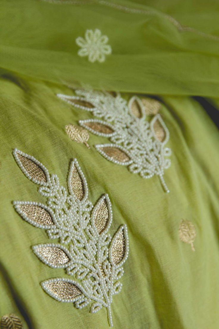 stunning beaded embroidery #embroidery #handembroidery #indianfashion #indianembroidery #beadsembroidery