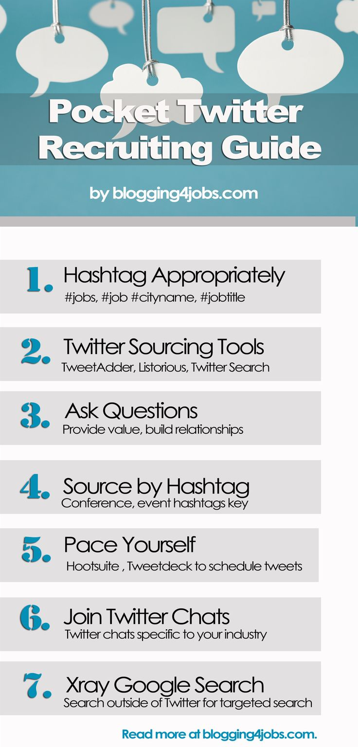 How to recruit on Twitter, social recruiting twitter pocket guide, twitter sourcing, social media recruit