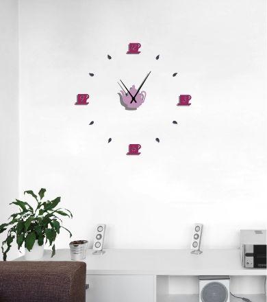 L'horloge classique personnalisable des buveur(se)s de thé