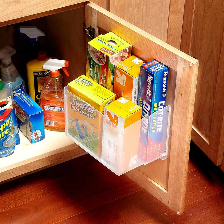 215 best organization tips storage ideas images on pinterest Diy under counter storage
