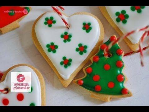 Decoración de galletas para el árbol de navidad. Cuchillito y Tenedor *2* - YouTube