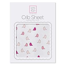 image of SwaddleDesigns® Little Chickies Flannel Fitted Crib Sheet