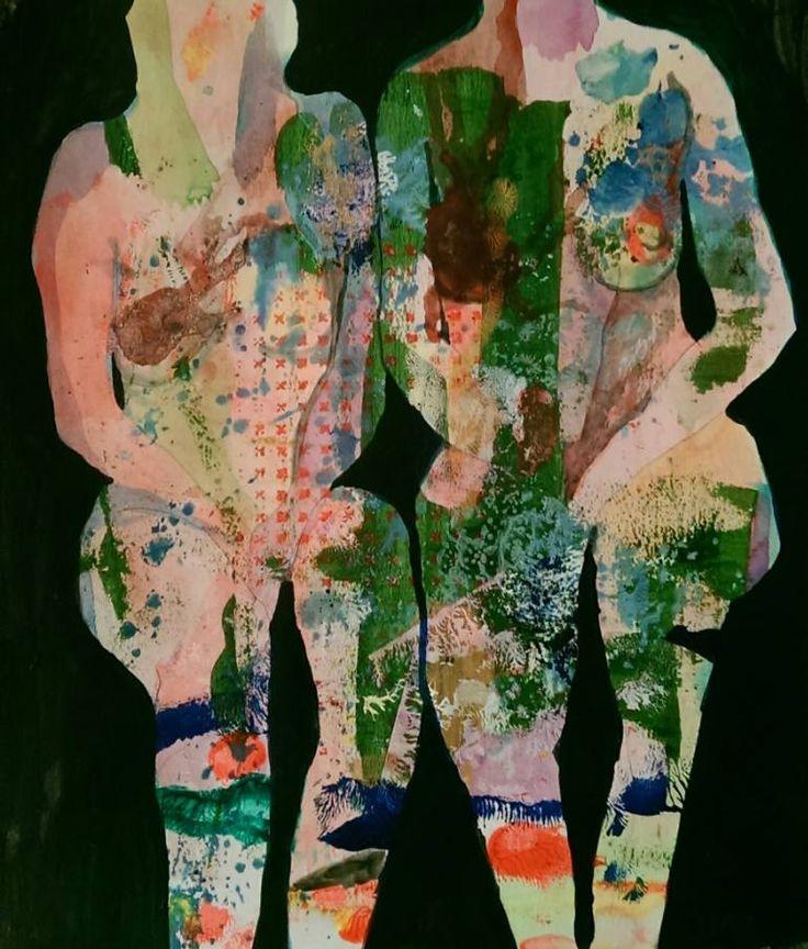 "Saatchi Art Artist Izabella Hornung; Painting, ""Sitting"" #art"