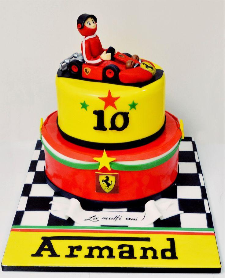 Armand, un prieten al cofetariei noastre cu acelasi nume, a avut din nou un tort aniversar pe masura, decorat cu simbolurile Ferrari si cu o figurina cart, toate realizate manual si special pentru aceasta ocazie.