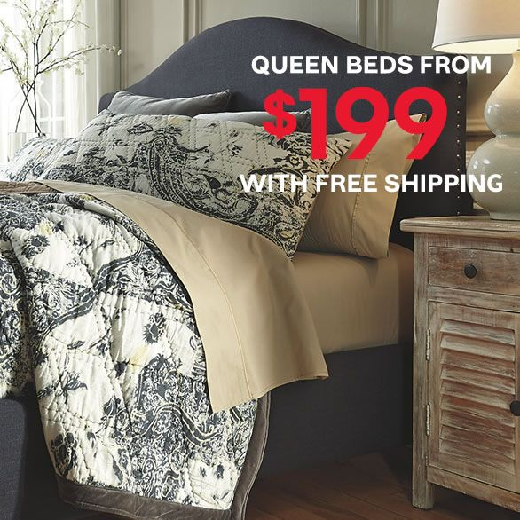 Ashley Furniture HomeStore Black Friday Sale Extended Queen Bed