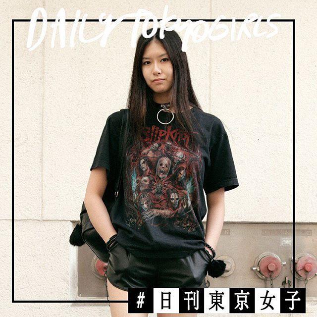 #日刊東京女子  ヘビメタバンドTにH&Mのレザーショートパンツをあわせてとことんハードに夏はいかつめチョーカーが主役の予感 デビー MAHO YAMAGUCHI(@maa0430 ) . 渋谷で見つけたおしゃれストリートガールを日刊でお届けする期間限定連載 詳しくは下記のURLから http://ift.tt/2sSNjK2 . #日刊東京女子 #dailytokyogirls #streetstyle #fashion #streetfashion #ellegirl #shibuya #tokyo #street #vintage #hm  via ELLE GIRL JAPAN MAGAZINE OFFICIAL INSTAGRAM - Celebrity  Fashion  Haute Couture  Advertising  Culture  Beauty  Editorial Photography  Magazine Covers  Supermodels  Runway Models