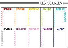 DEUX SOEURS | UN AGENDA Imprimable - Listes de courses…