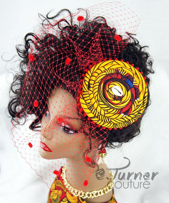 African Fascinator   African Bird Cage by ETurnerCouture on Etsy