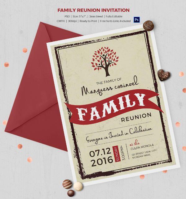 family reunion brochure templates