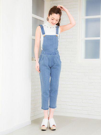 サロペットの着こなしが◎シックタイプの女子にオススメしたい☆キレカジ系コーデ、スタイル・ファッションの参考に♪