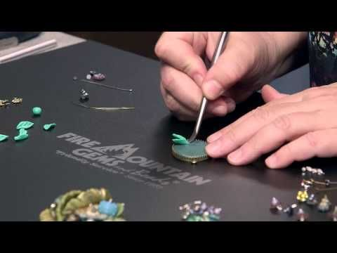 Video Tutorial - Creating a Polymer Clay Flower and Leaf Pendant - Fire Mountain Gems and Beads