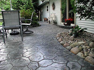 Grey Stamped Concrete Patio Ideas Pinterest Cement