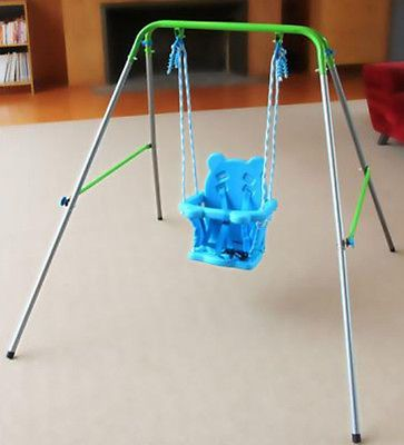 Indoor-Outdoor-Portable-Baby-Toddler-Swing-Set-Kid-Child-Safety-Playground-New