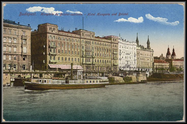 Budapest - Hungária és Bristol - szálloda képeslap