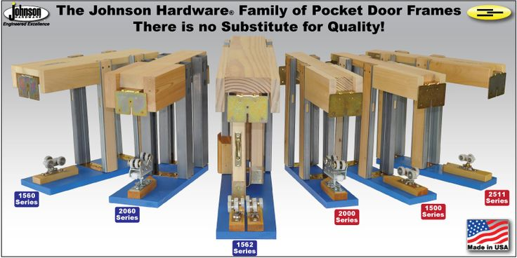 Johnson Hardware® POCKET DOOR HARDWARE - for use w/shoji pocket doors instead of a waxed wood track. Better for homes with animals and kids as grit and hair can cause uneven wear in wax wood track.