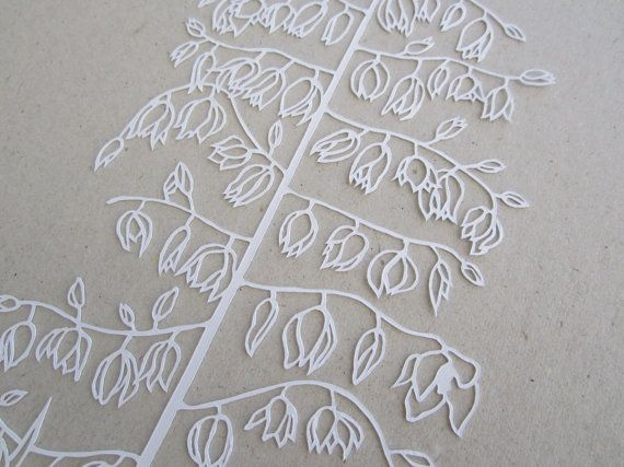 Magical Flower and Crystal Papercut Series 1  Yucca by HybridJ