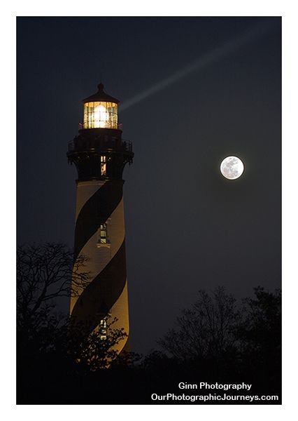 *St. Augustine Lighthouse under the full moon.