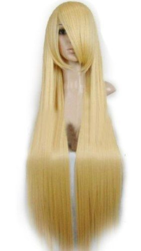 """40"""" Straight Costume Play Party Wig (Model: Jf010079) (Blonde) by cool2day, http://www.amazon.com/dp/B006OUEBAA/ref=cm_sw_r_pi_dp_ug0Rqb1VHWJ53"""