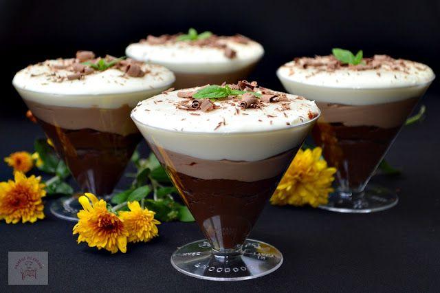 Trio de ciocolata la pahar - CAIETUL CU RETETE