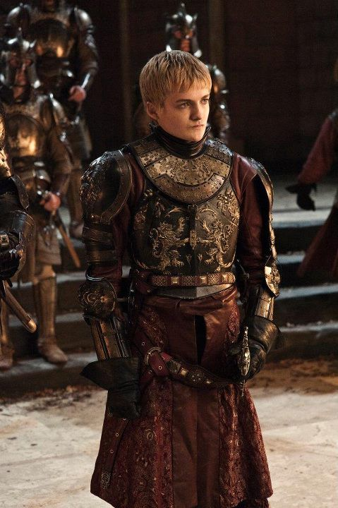 Joffrey Baratheon (Eldest son of Robert Baratheon (Real father: Jaime Lannister) and Cersei Lannister)