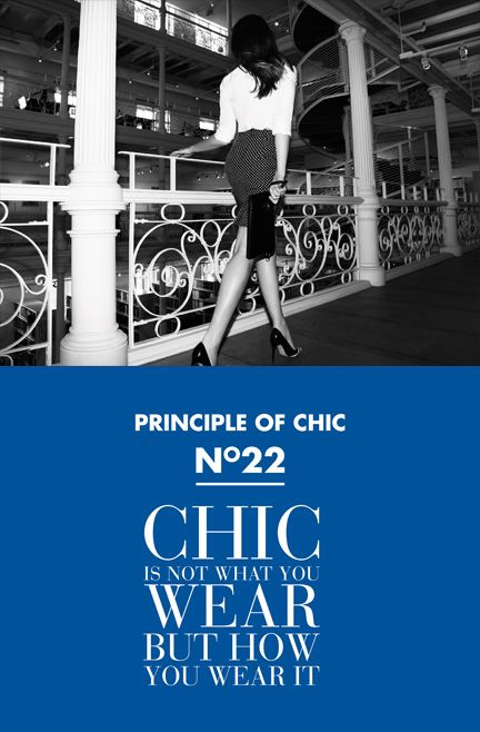 Principle of chic number 22 #JACOBCHIC