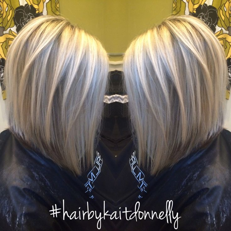 Platinum cool blonde. Long A-line bob #hairbykaitdonnelly #longbob #platinum #coolblonde