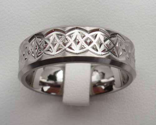 4e493a7a3c482 Men's Contemporary Titanium Celtic Ring : LOVE2HAVE in the UK ...