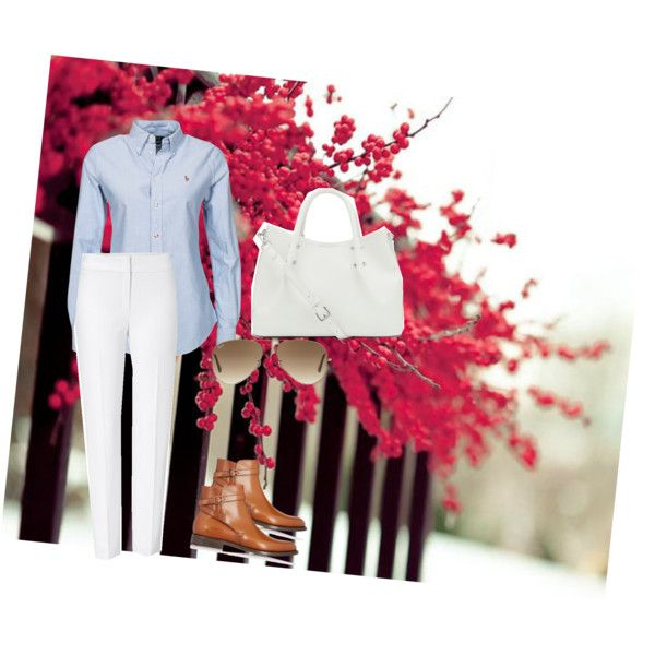 walk along by lopez-cres on Polyvore featuring polyvore fashion style ESCADA Church's Vince Camuto Ray-Ban