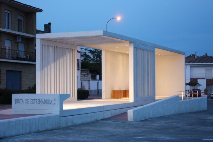 intercity bus stop shelter   Mercedes López   Archinect