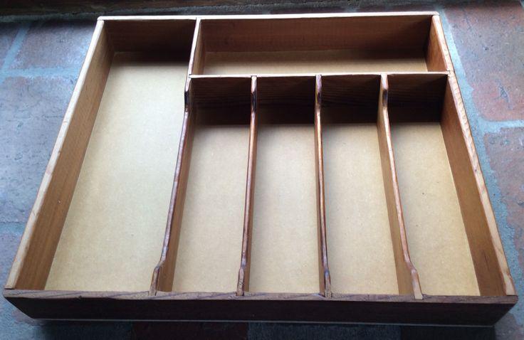 Cedar and plywood cutlery drawer insert.