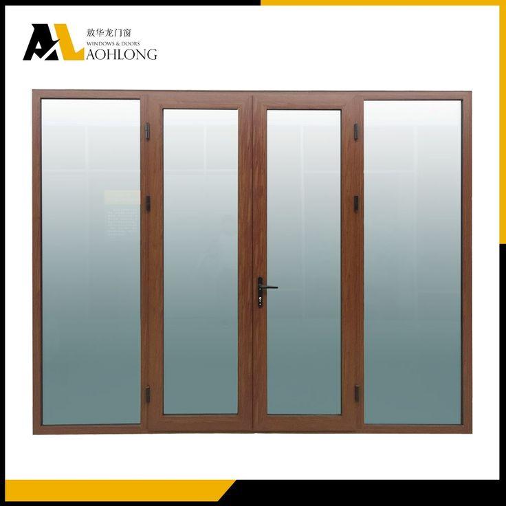 Energy-saving Woodgrain Aluminium  Casement  Door for Home