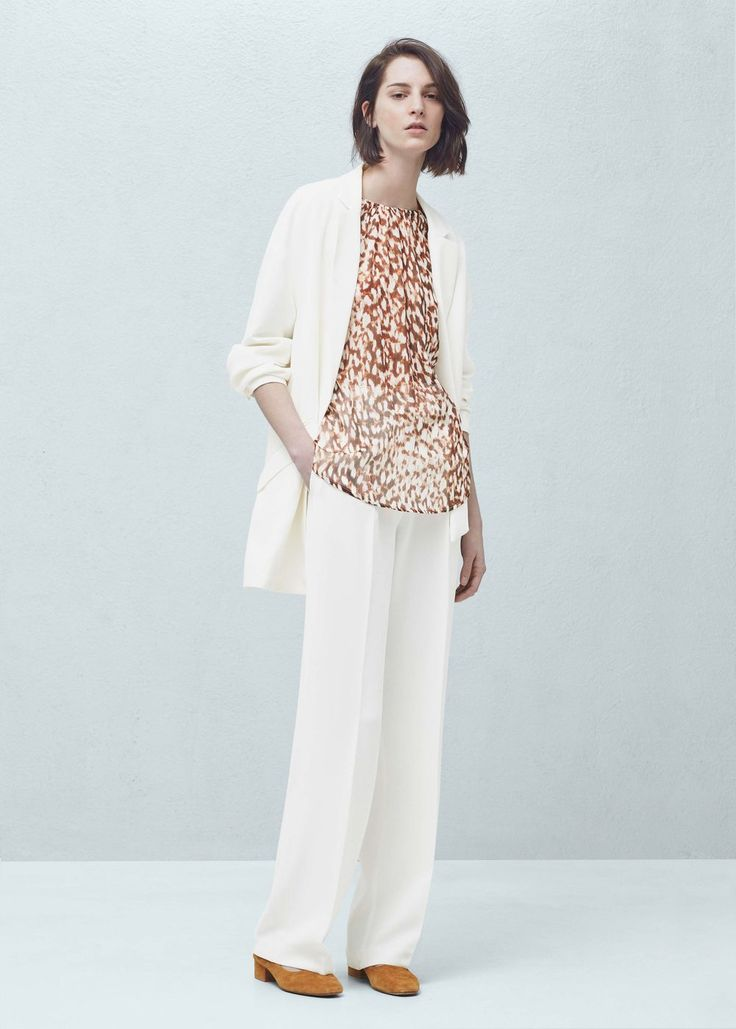Bluse mit animal-print - Blusen für Damen | MANGO Verfügbar