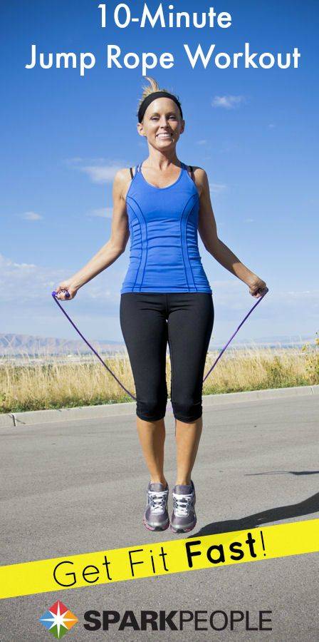 10-Minute Jump Rope Cardio Workout Video via @SparkPeople