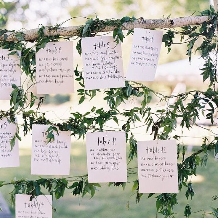 craft ideas for wedding place cards%0A Lovely hanging escort cards by  script merchant