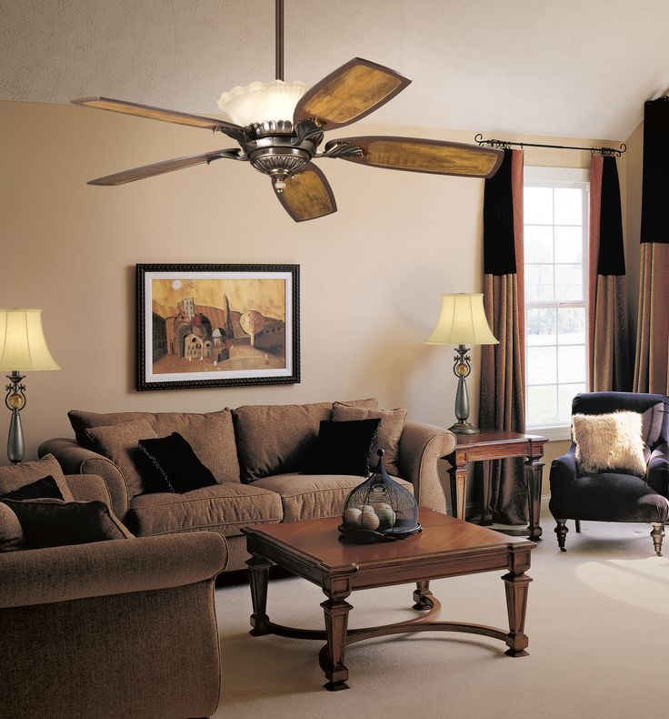 With An Oiled Bronze Finish And Ribbed Glass, This Fan Is A Wonderful  Addition To