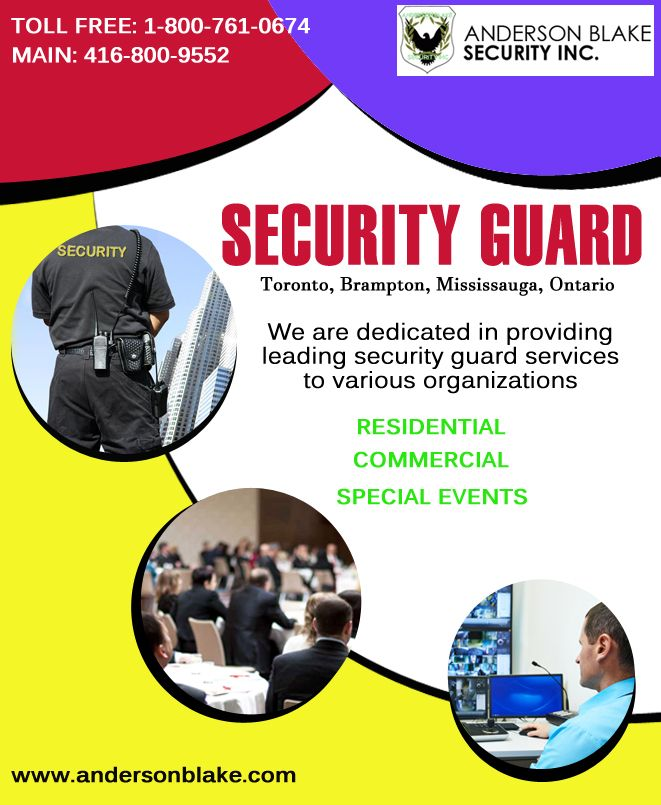#security_guard_in_Toronto #Security_Guard_In_Toronto #Security_Guard_Toronto #Toronto #Security_Guard_In_Brampton #Security_guard_in_Ontario #security_guard_in_Mississauga Just call at: 1-800-761-0674 and 416-800-9552. You can also visit here: http://www.andersonblake.com/